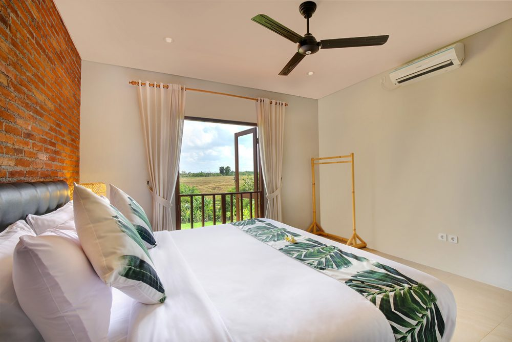 Villa Subak bedroom with ac and fans to keep you comfort