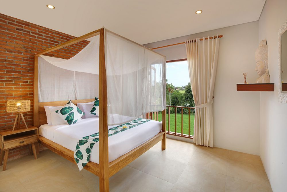 Villa Subak another bedroom with double bed and a beautiful layout